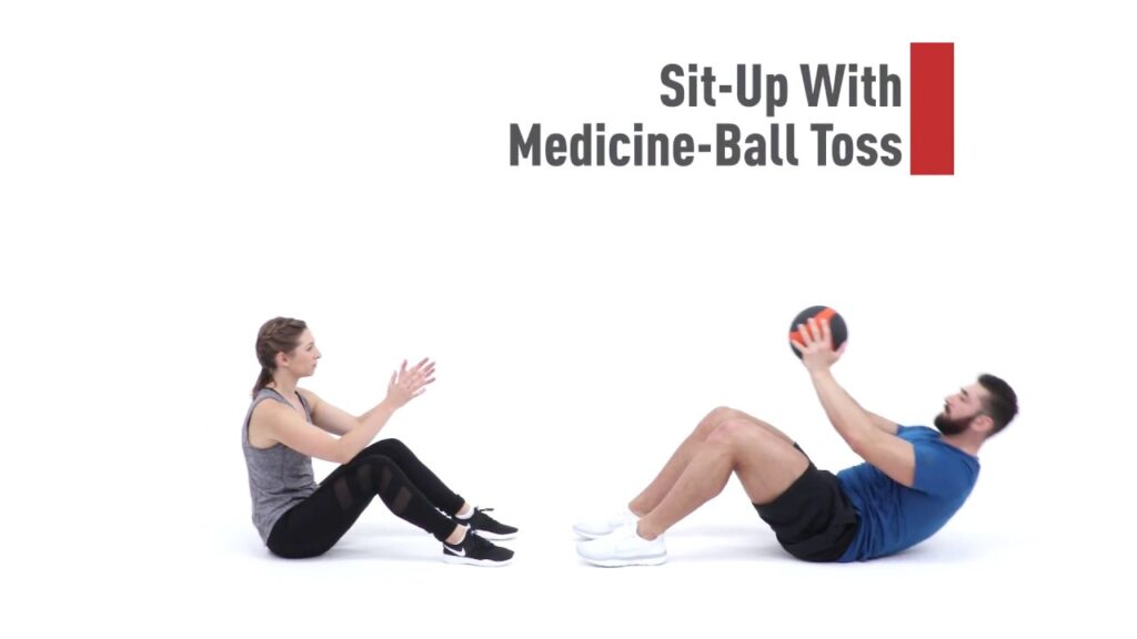 Sit up with Medicine Ball toss for vaginal tightening - chennai gynecologist